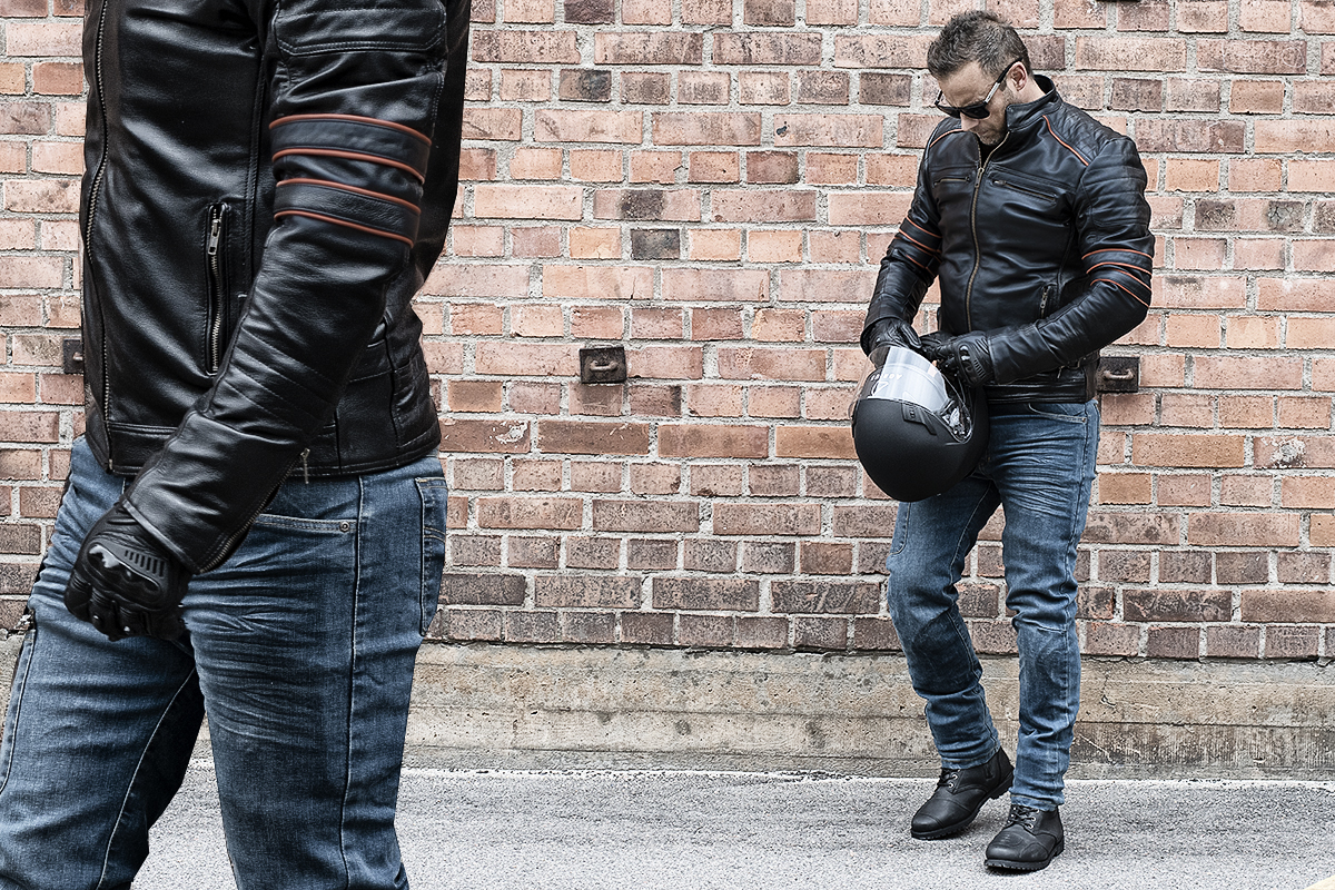 KEVLAR PAKETET - BIKER BLUE SUMMER PACK LEATHER