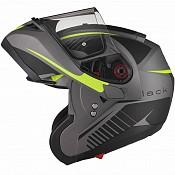 BLACK Optimus SV Tour Flip Front Solvisir Matt Black Safety Yellow 12400