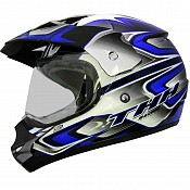 THH TX-13 #3 Dual Sport BlackBLUE cross hjälm