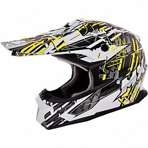 MX Force Race Shiver 143450804 Yellow cross hjälm