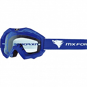 MX Force Magen Solid Motocross Blue 14336-0300 Goggles