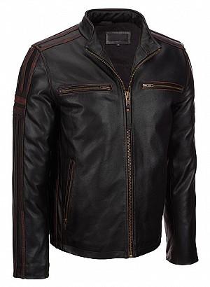 ATA RIVALRY CUSTOM BLACK skinn mc jacka  611123