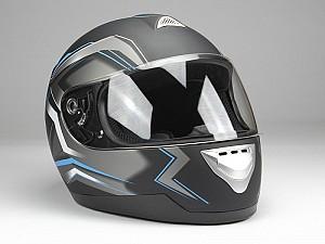 BNO INTEGRAL F500 BLACK BLUE Mc hjälm