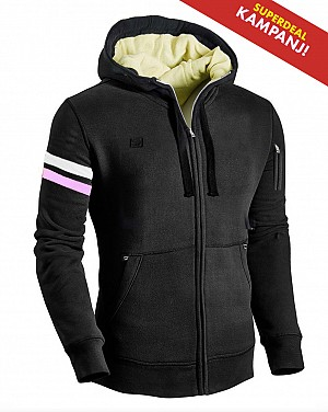 LADY KEVLAR BLACK ARMOUR CE SKYDD MC HOODIE  LKH 08