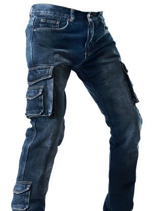 DENIM SIDEPOCKET RANGER KEVLAR DARKBLUE MC BYXA  DSPDB-0619