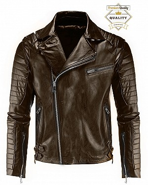 PREMIUM SERIES ATA PATROL BIKER DARKBROWN MC JACKA  50123