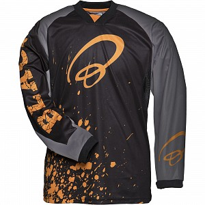 Black MX Splat Motocross Jersey Orange 1909 crosströja