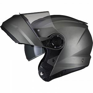 Black Optimus II Flip Front Matt Titanium 53074503 Öppningsbar mc hjälm