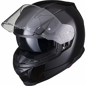 BLACK APEX FULL FACE Motorcycle Helmet GLOSS BLACK SOLVISIR 53051503 MC HJÄLM