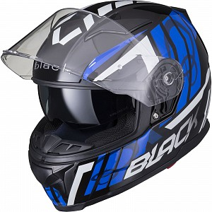 BLACK APEX TRIPLE Motorcycle Helmet BLUE SOLVISIR 53063503 MC HJÄLM