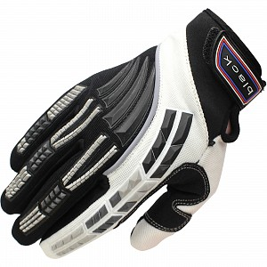 Black Claw Motocross Gloves WHITE 5234-1006 Motocross HANDSKAR