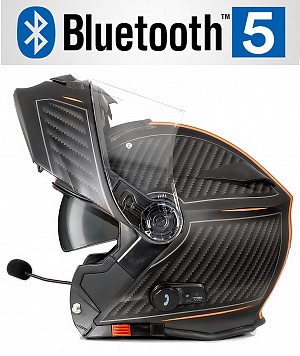 BLUETOOTH BULLET HD MATT ORANGE V5 SOLVISIR MC HJÄLM