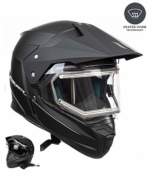 MT DUO SPORT ELECTRIC HEAT MATT BLACK mc / cross hjälm W10151521