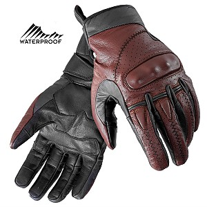 ARTERY TOURING BROWN VINTAGE WATERPROOF MC HANDSKAR