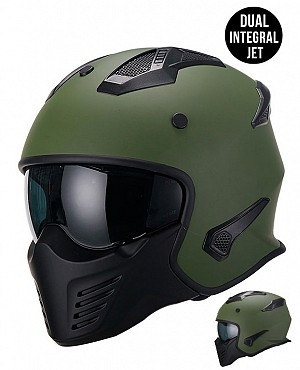 DUAL MOTO PREDATOR MATT ARMYGREEN MC / CROSS HJÄLM