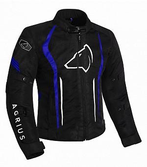 Agrius Phoenix Motorcycle BLACK/BLUE 51026-0304 ALLVÄDER MC JACKA