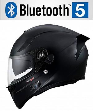 BLUETOOTH FEATHERLIGHT MATT BLACK SV RT-826BL MC HJÄLM