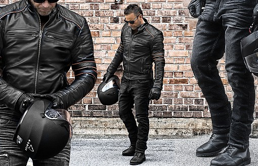 KEVLAR PAKETET - BIKER BLACK SUMMER PACK LEATHER