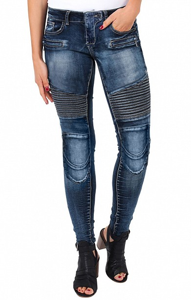 ATA LADY BIKER DENIM KEVLAR JEANS MC BYXOR - Sharkspeed 0702df3378120